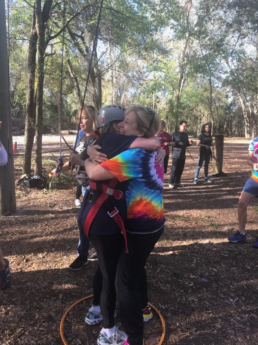 Becky Hugging